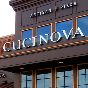 Cucinova Pizza exterior channel letters