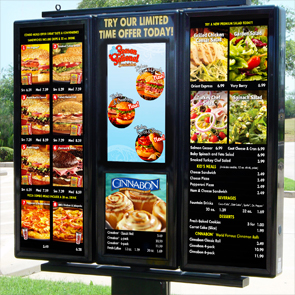 Schlotzsky's exterior hybrid digital menu board
