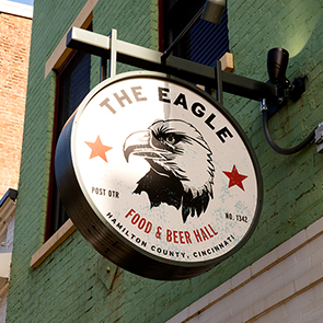 The Eagle Beer Hall Cantilever Sign