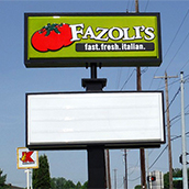 Fazoli's reader board