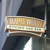 Maplewood Kitchen Blade sign