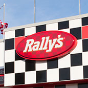 Rally's exterior wall signs
