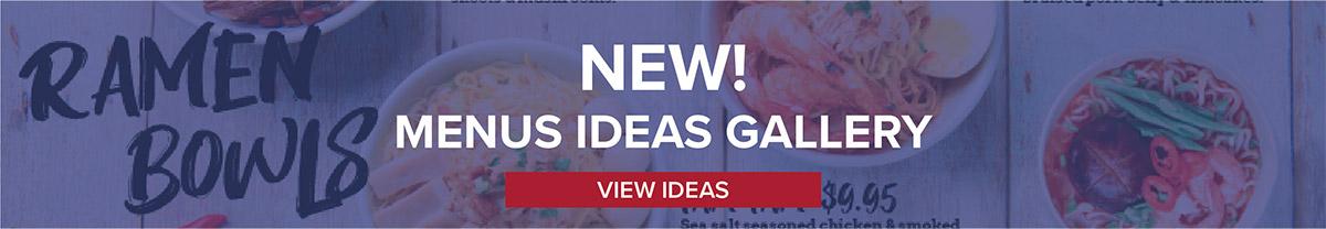 Menus Ideas Gallery - View Now