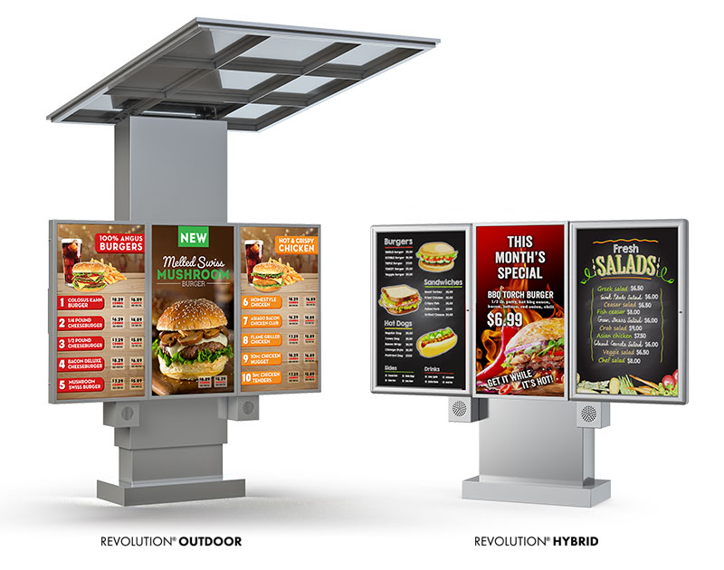 Revolution Outdoor & Hybrid Menuboards by National Sign Systems