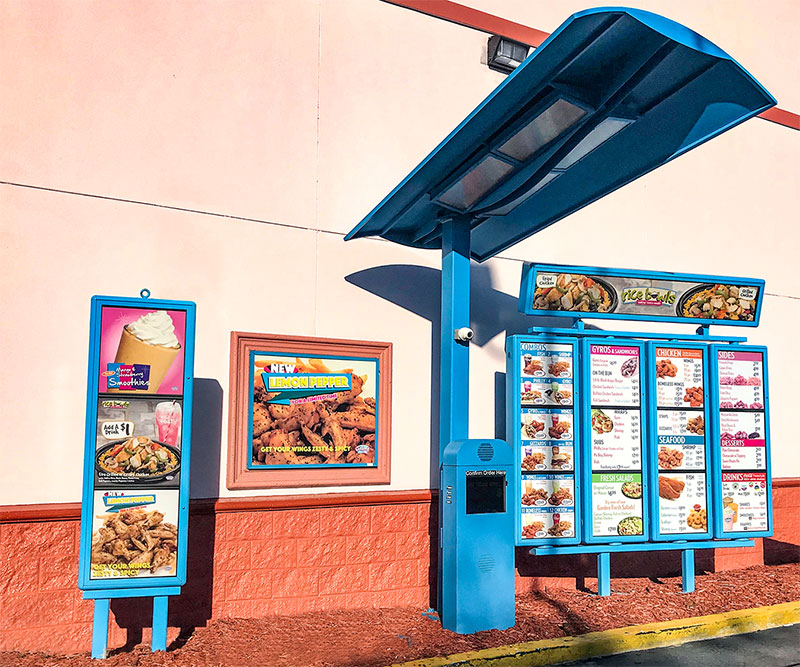 Color options for menu boards from National Sign Systems in Columbus, Ohio