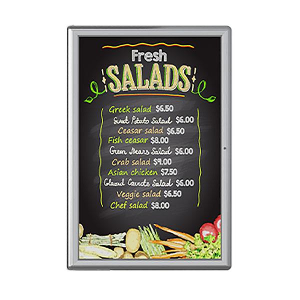 Outdoor static cabinet menu board